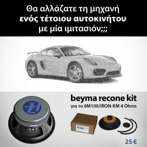 recone kit 8M100/IRON-KM 4 Ohms